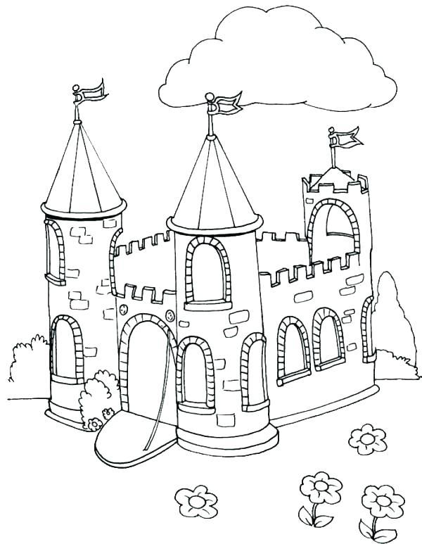 600x773 Disney Castle Coloring Page Castle Color Page Plus Castle Coloring