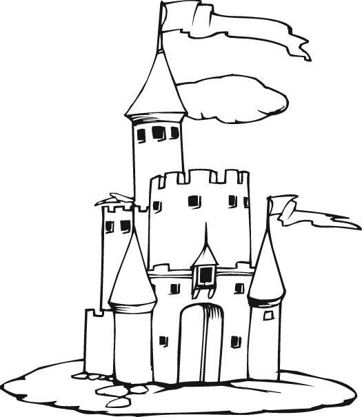 525x605 Disney Castle Printable Free Download