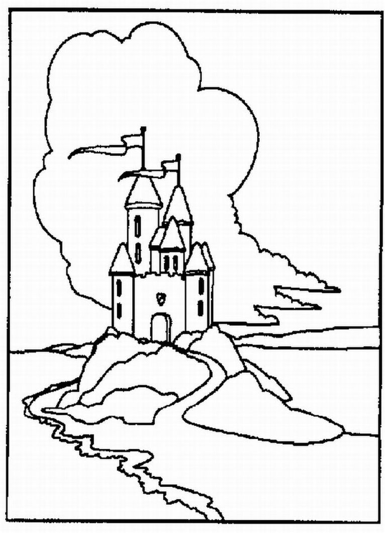 766x1058 Disneyland Castle Drawing Clipart Panda