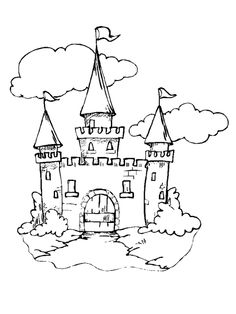 236x314 Draw Castle White Line Drawing Of A Path Leading To A Castle