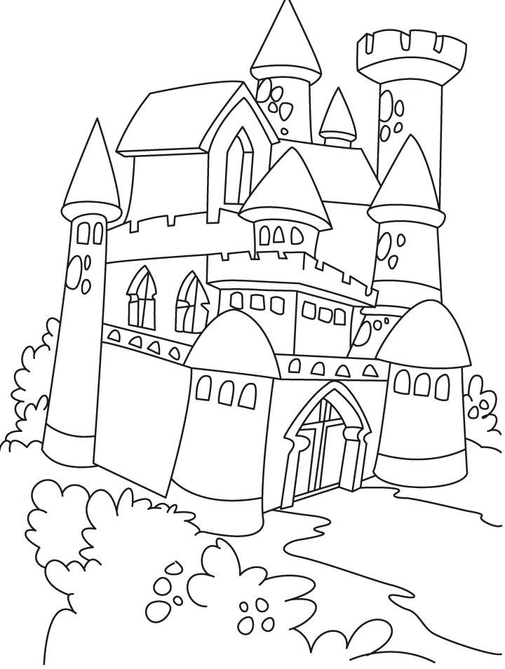 720x954 Drawn Palace Princess Castle