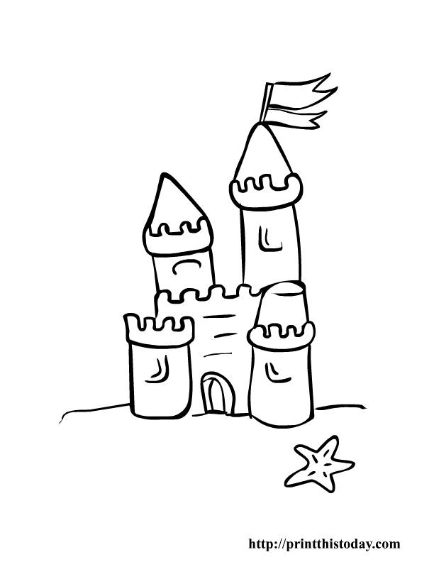 612x792 Fish Coloring Pages Of Castles Mountain