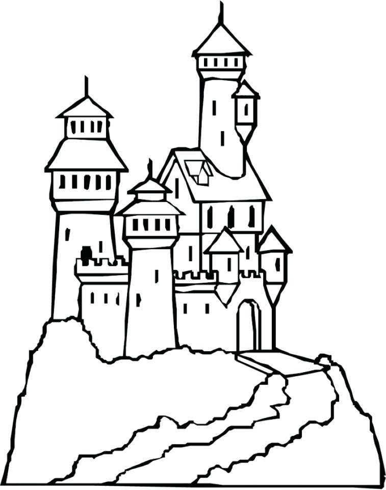 757x960 Fresh Castle Coloring Pages For Castle Coloring Pages 78 Disney