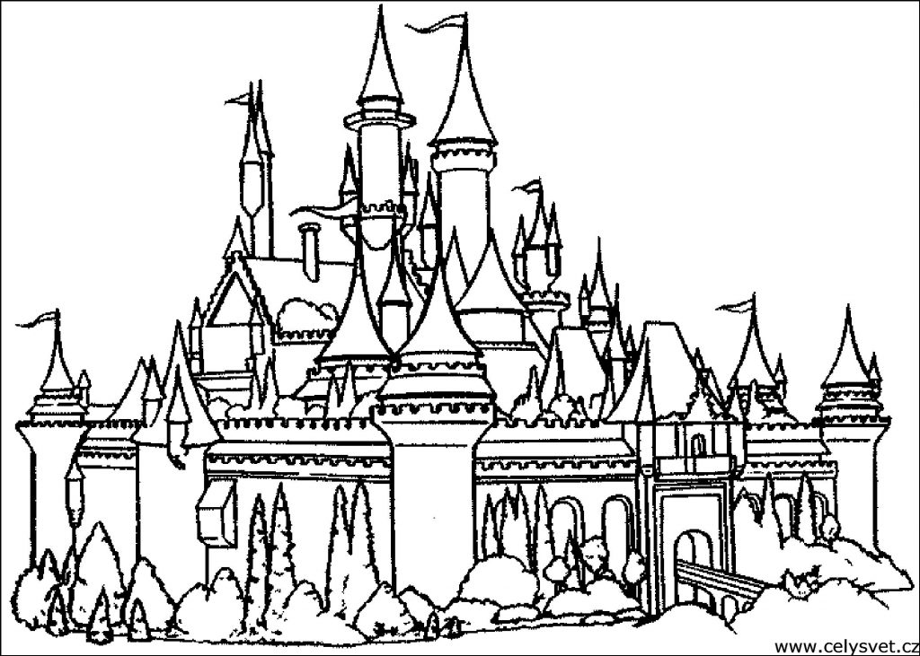 1024x731 Heroes ~ Castle Coloring Page For Kids Castle Sheets Pages Castles