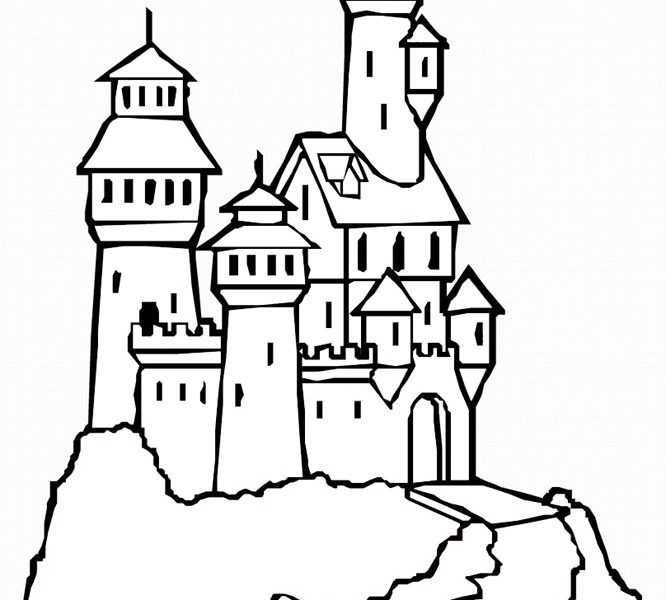 666x600 Trend Castle Coloring Page 87 About Remodel Line Drawings