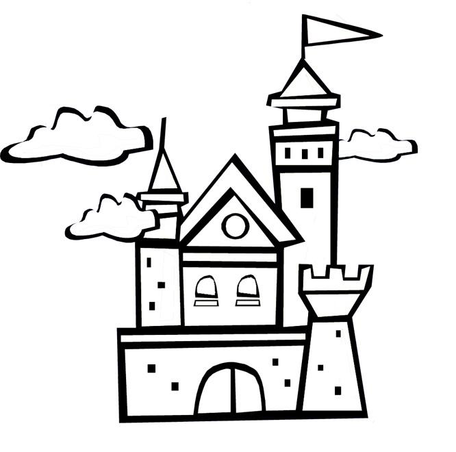 666x660 Castle Coloring Pages