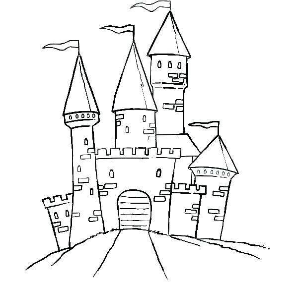 600x569 Coloring Pages Castle Synthesis.site