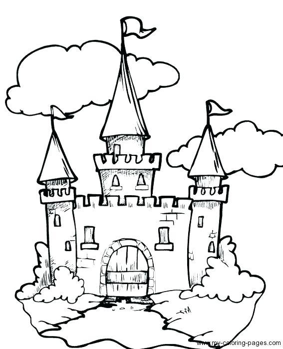 567x699 Cinderella Castle Coloring Pages Castle Color Page Luxury Castle