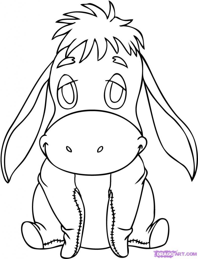 785x1024 Disney Character Drawings How To Draw Ba Eeyore Step Step Disney