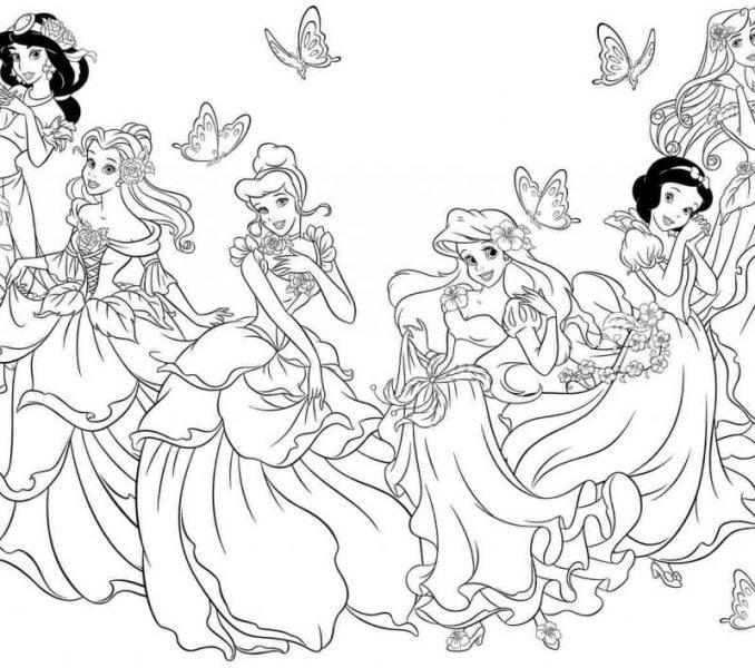 678x600 Disney Princess Drawing Pages Disney Princess Printable Coloring