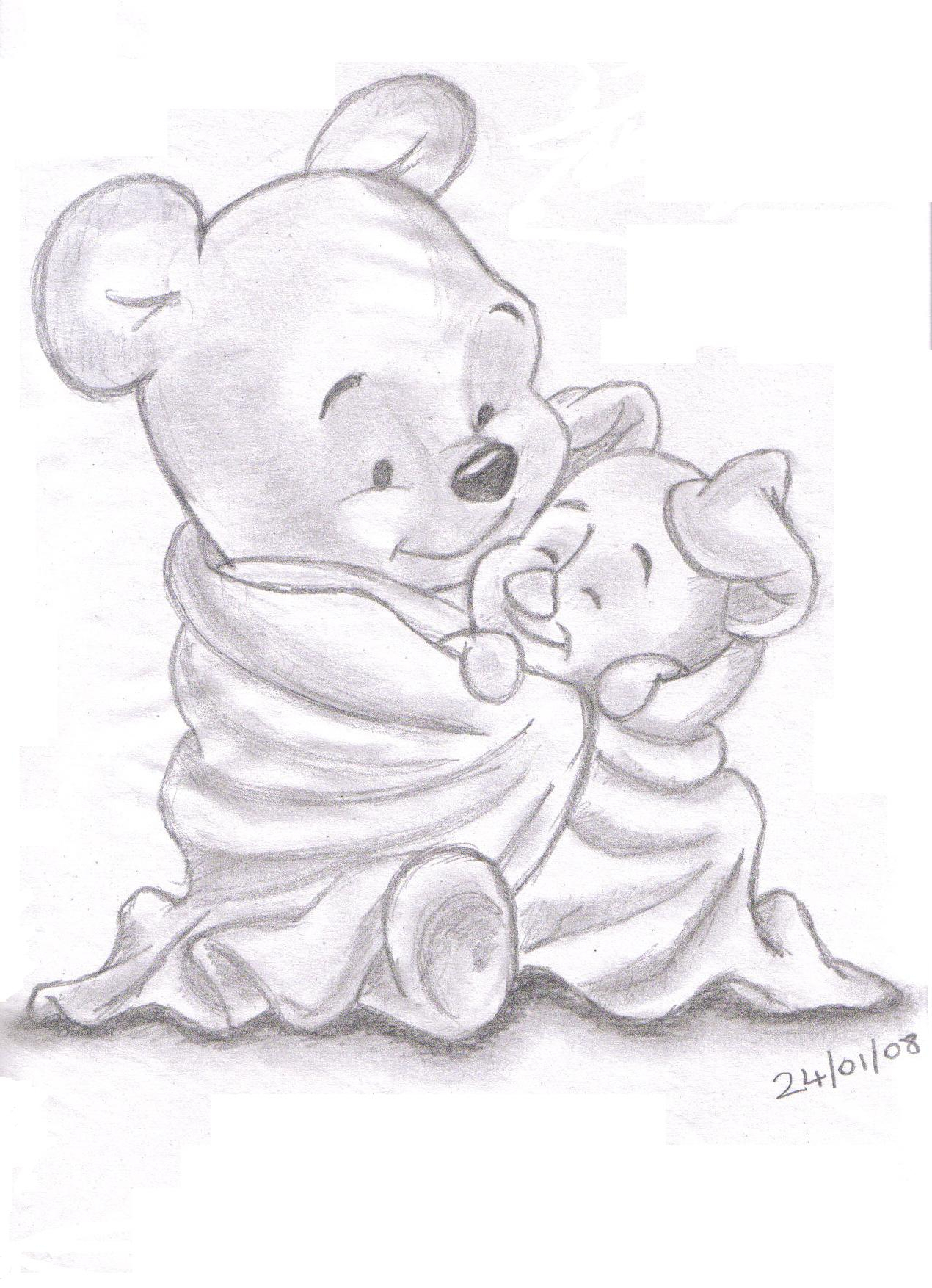 1270x1754 Pooh And Piglet Drawing Pencil Drawings Of Disney Characters