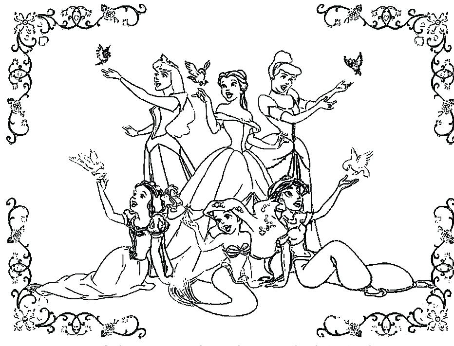 932x711 Disney Princess Thanksgiving Coloring Pages Free For Kids Best