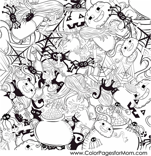 640x664 Fall Coloring Pages Collage Fall Scene Coloring Pages