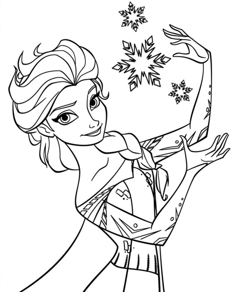 Disney Drawing Frozen At Getdrawingscom Free For Personal Use - Elsa-coloring-book
