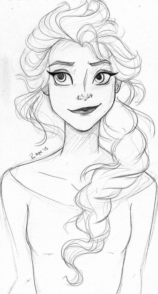 515x960 Elsa Sketch Art Elsa, Sketches And Drawings