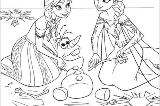 640x425 Printable Coloring Pages For Kids Disney Frozen