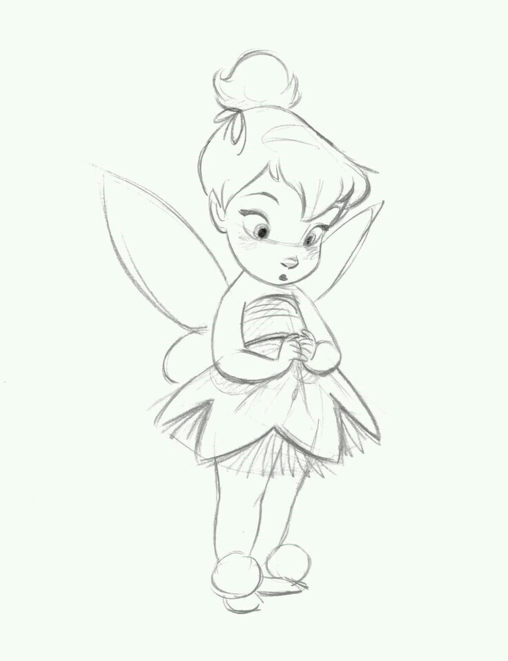 736x958 Lovely Thinkerbell Infantiles Drawings, Drawing