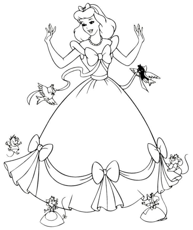 734x875 Princess Coloring Games