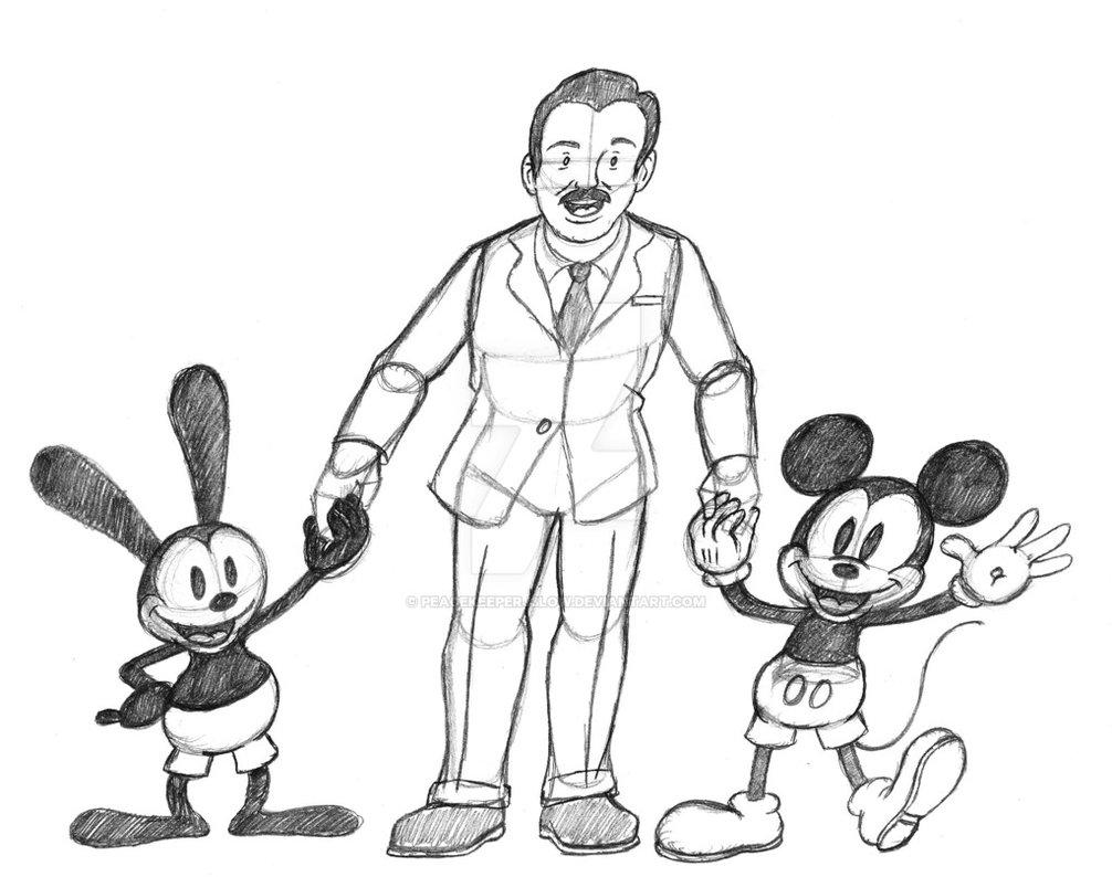 1006x794 Happy 103rd Birthday Walt Disney (Sketch) By Peacekeeperj3low