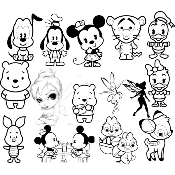 600x600 Pictures Cute Drawings Of Disney Characters,