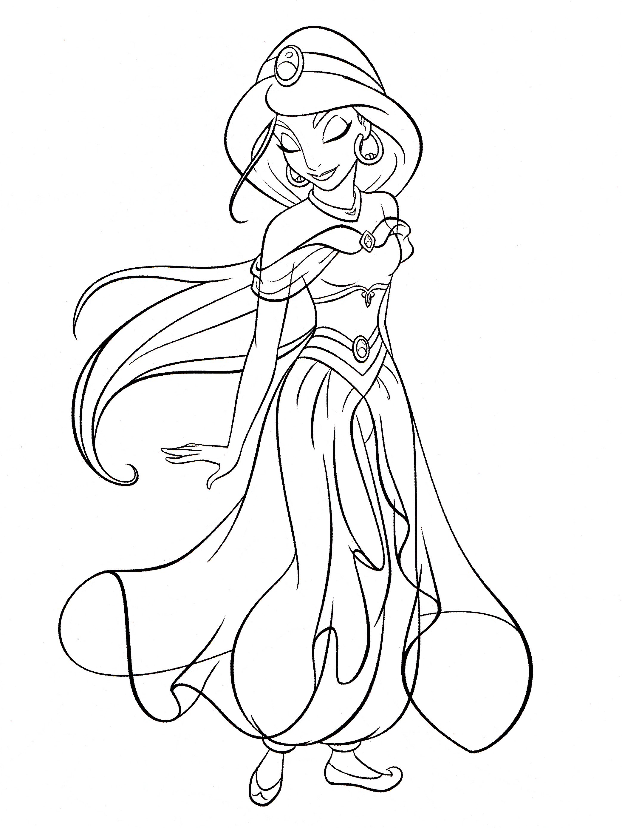 2086x2775 Coloring Pages Fascinating Princess Jasmine