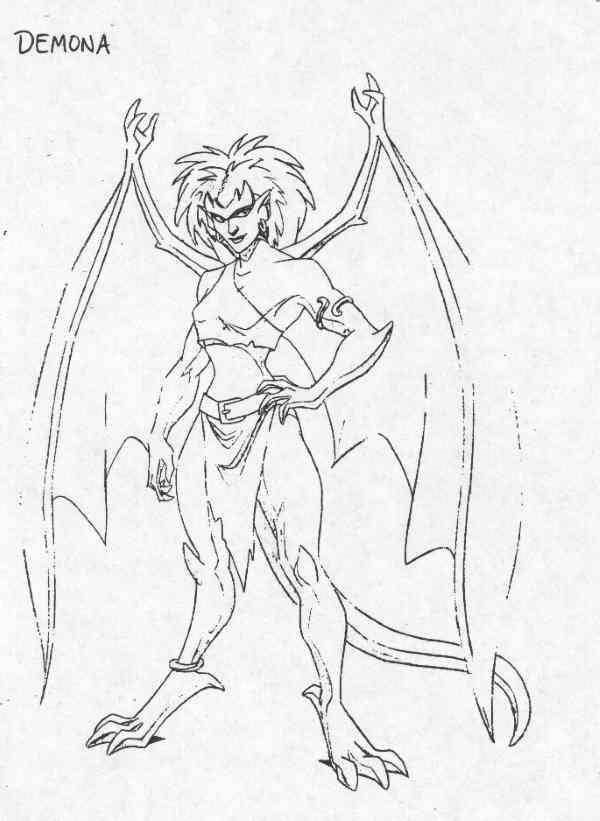 600x821 Demona Model Sheet Character Design By Greg Guler For Gargoyles