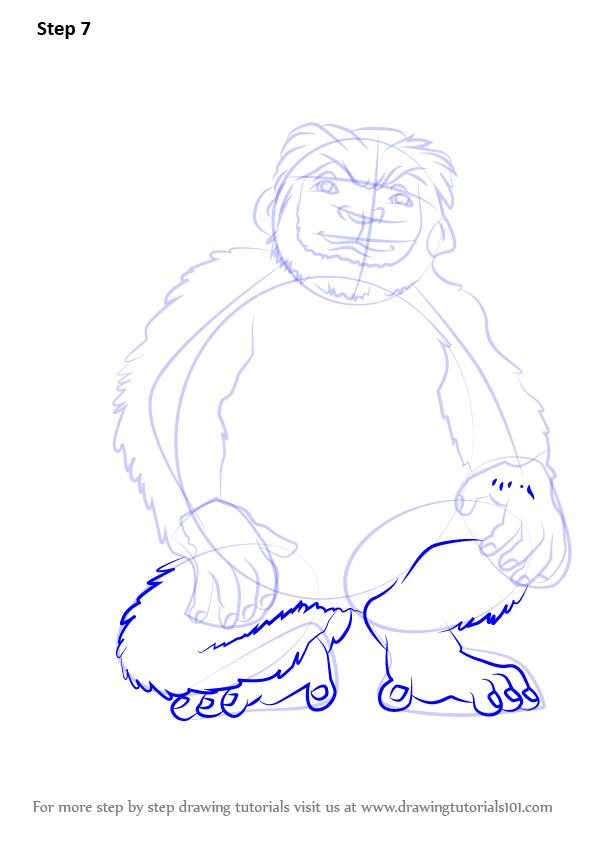 596x843 Learn How To Draw Yar From Disney Dinosaur (Disney Dinosaur) Step