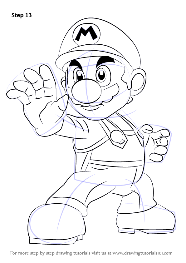 596x842 Step By Step How To Draw Mario From Super Smash Bros