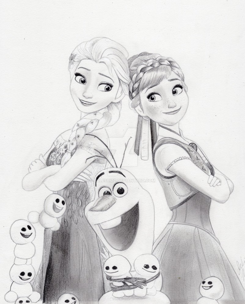 802x996 Frozen Fever (Graphite Drawing) By Julesrizz