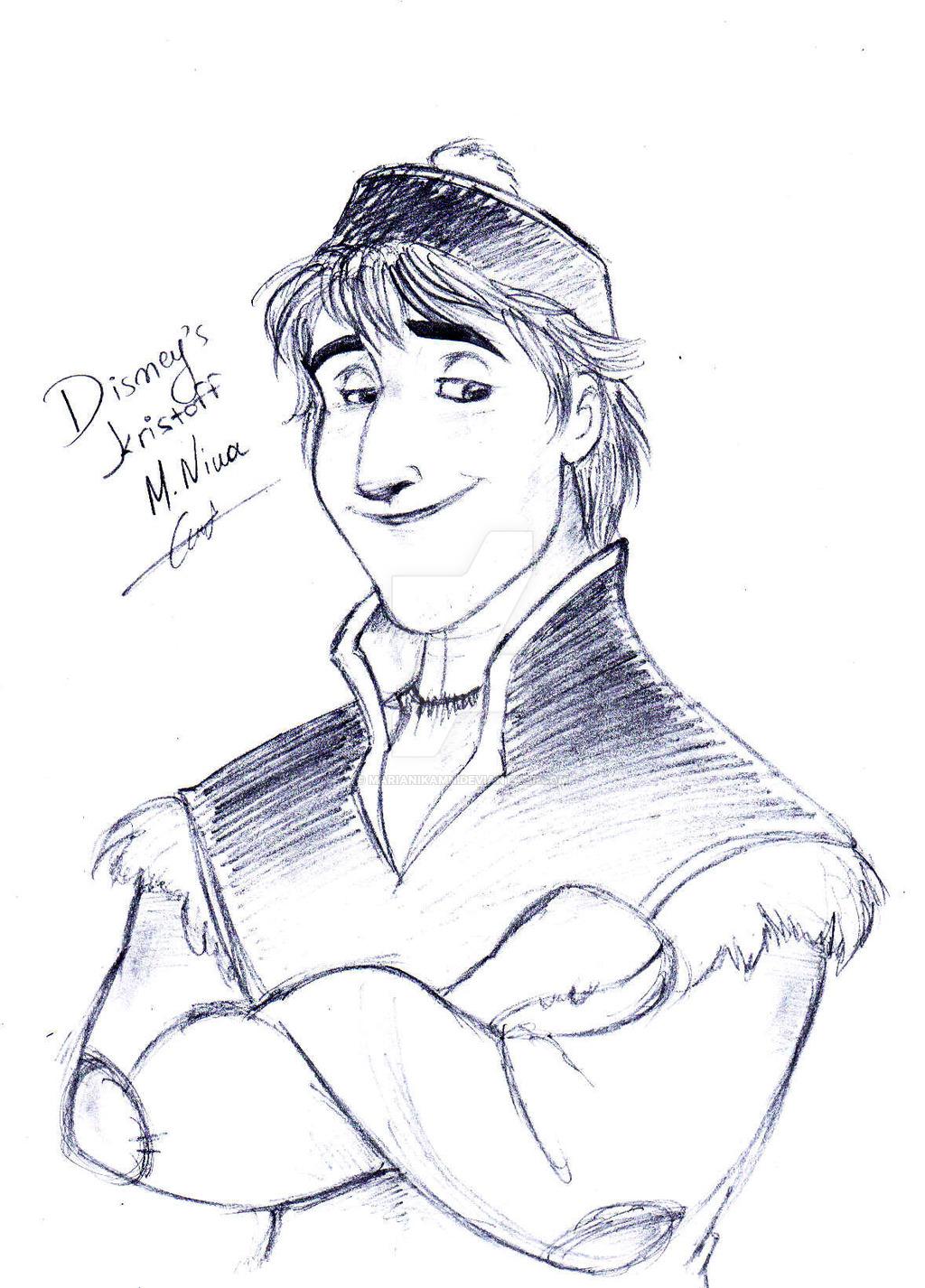 1024x1426 Disney's Frozen Kristoff Sketch By Marianikamn