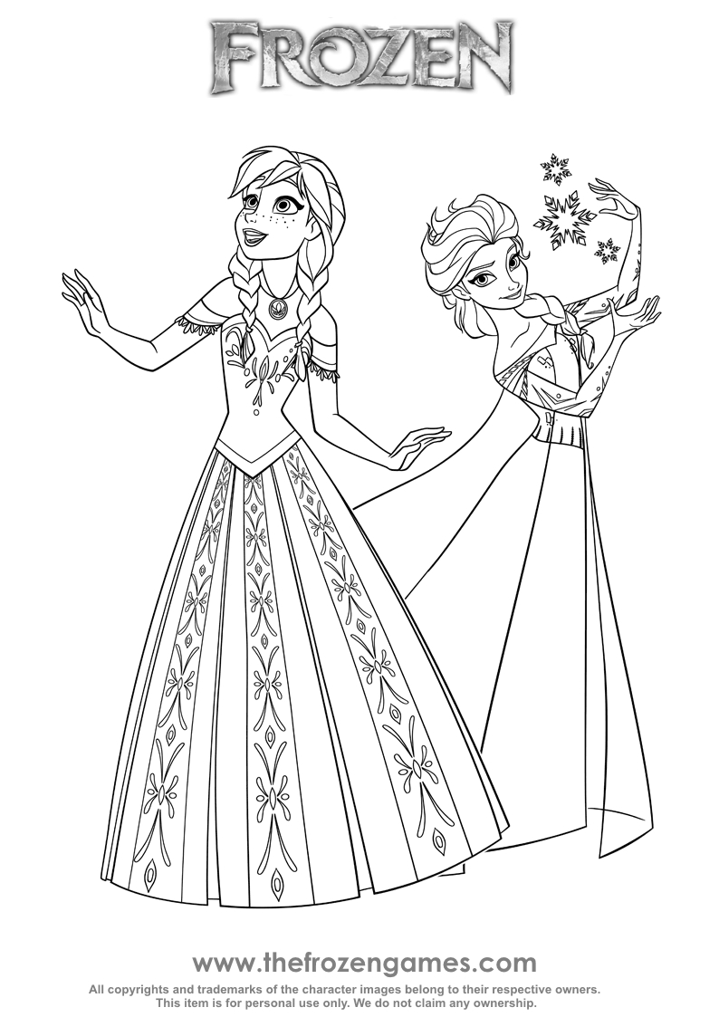 794x1123 Two Princesses Of Arendelle Frozen Games