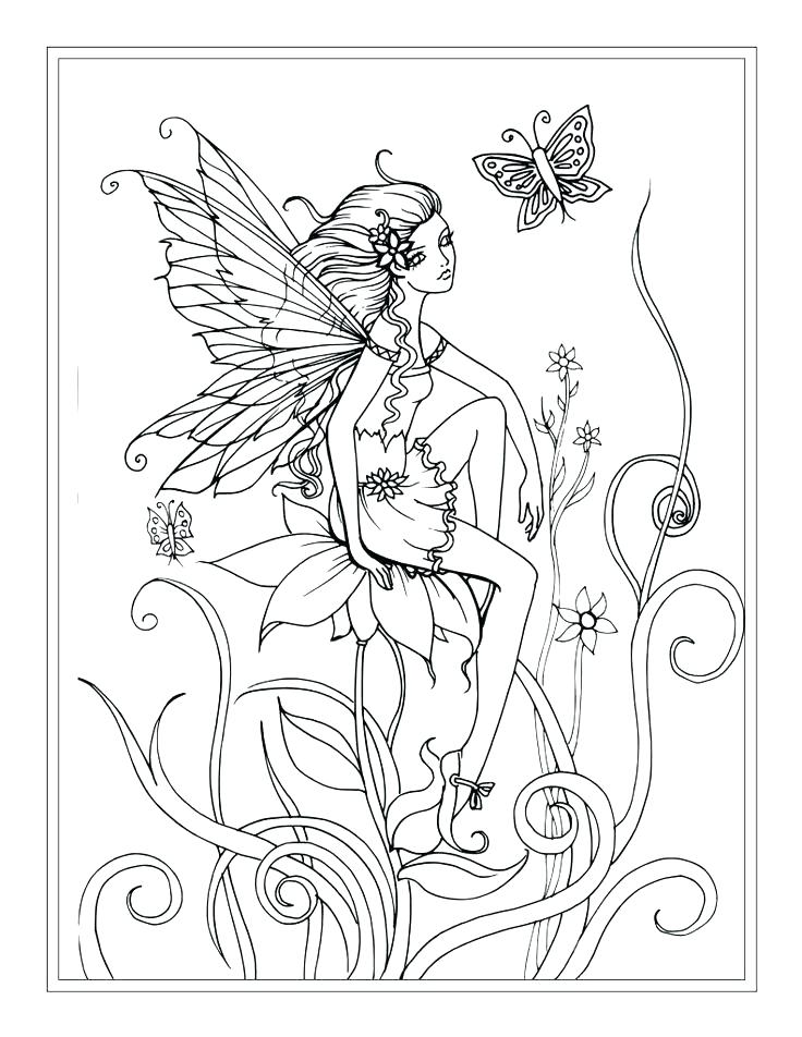 736x952 Fairies Coloring Pages Fairy Dress Fairy Dress Coloring Page