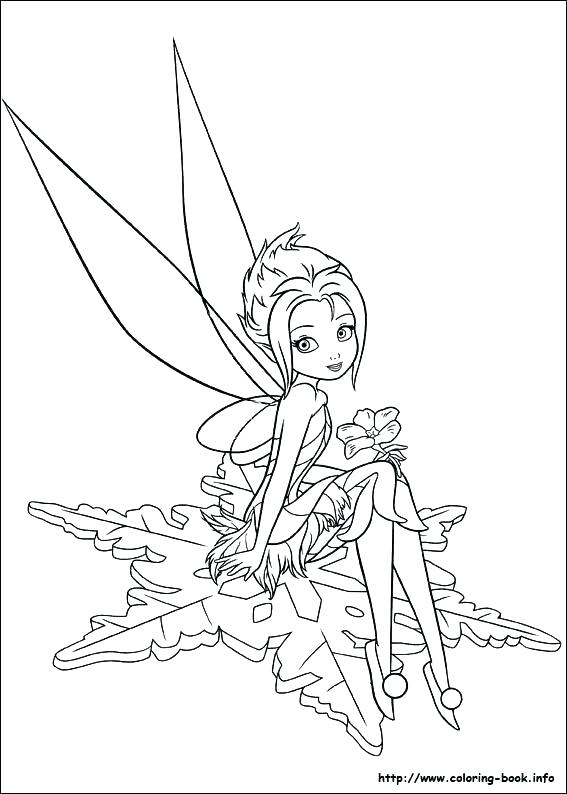 567x794 Tinkerbell Fairies Coloring Pages Flying Around With Some Other