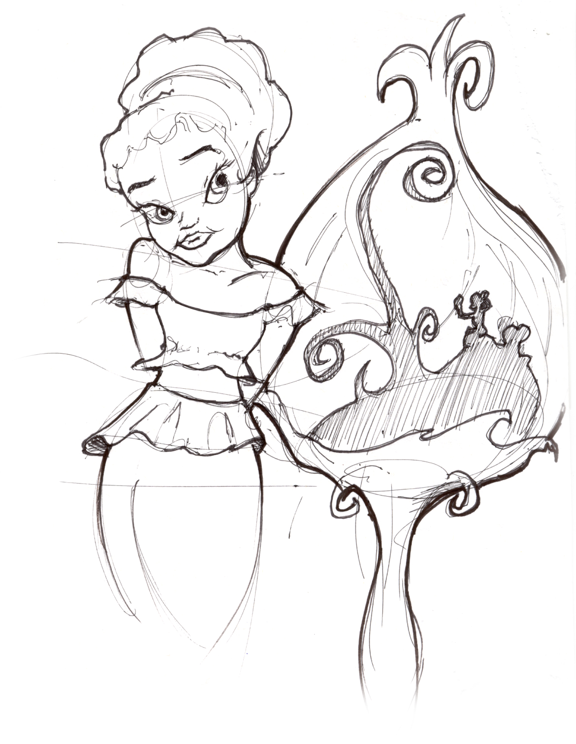 1170x1512 Disney Fairies, Pixies And Sparklydoo's Lineweights
