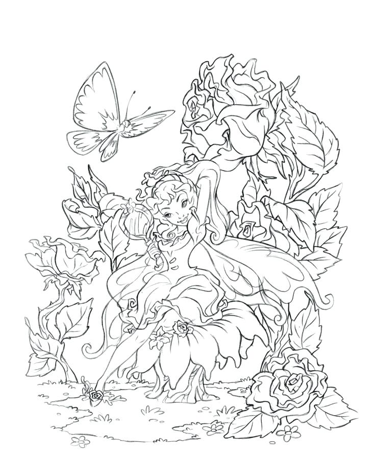 735x897 Disney Fairies Coloring Pages Fairies From Fairies Coloring Page