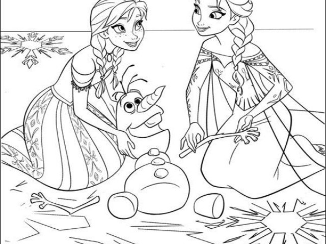640x480 Disney Frozen Coloring Pages For Kids Printable
