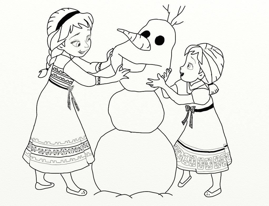 1021x782 Elsa Frozen Drawing