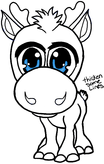 406x639 How To Draw Baby Chibi Sven From Frozen In Easy Steps Drawing