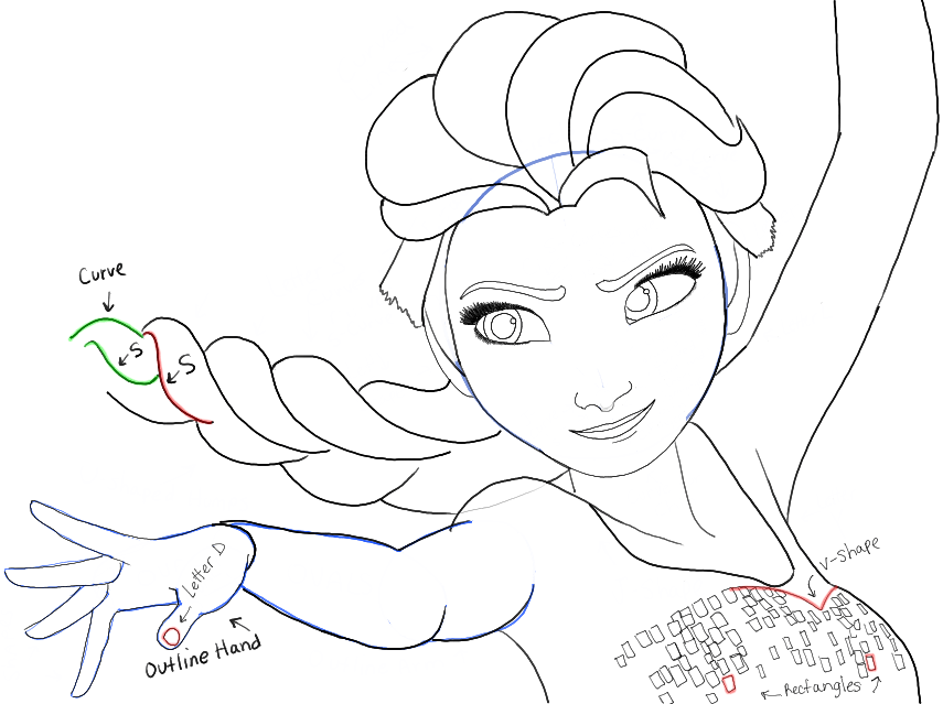 855x639 How To Draw Elsa From Frozen With Easy Step By Step Drawing