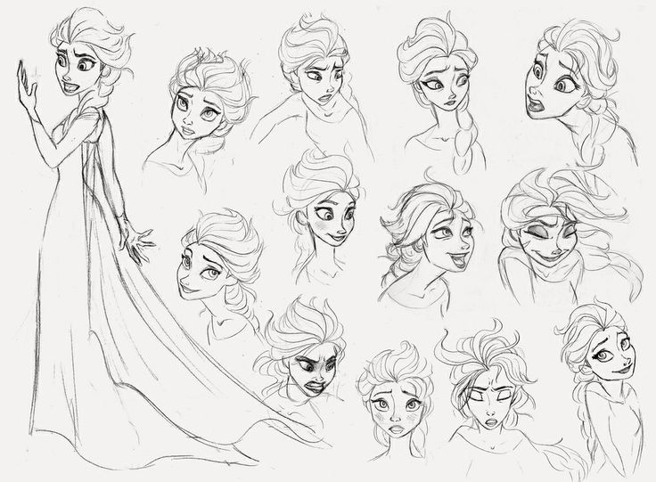 Disney Frozen Elsa Drawing