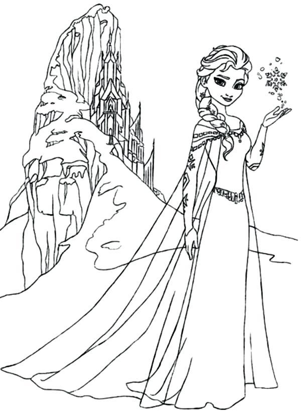 600x828 Disney Frozen Elsa Coloring Pages Queen Amazing Ice Castle
