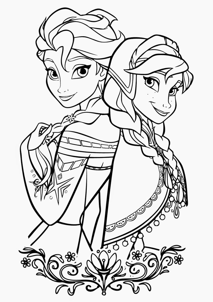 736x1042 Disney Princess Coloring Pages Frozen Elsa And Anna Preschool For