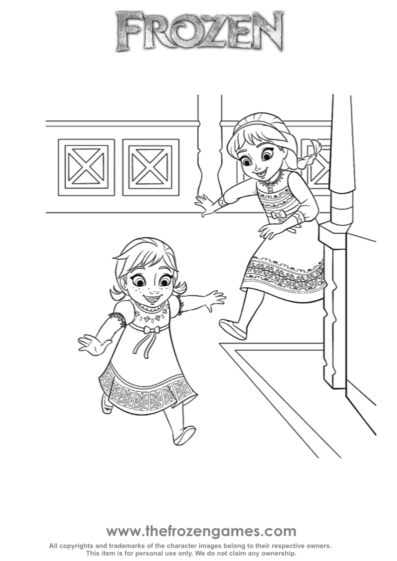794x1123 Elsa And Anna Coloring Pages