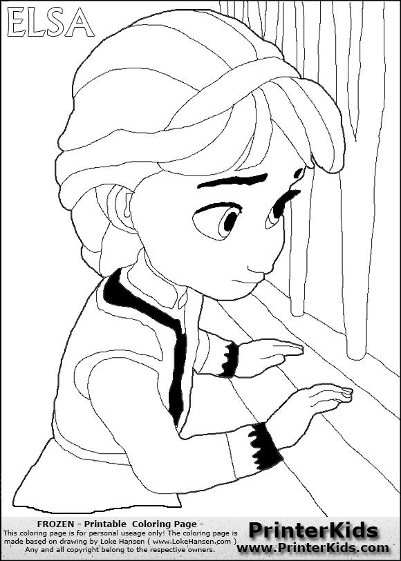 580x812 Frozen Elsa Coloring Pages