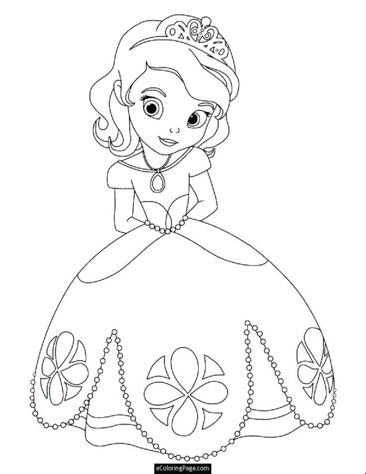 736x952 All Disney Princesses Coloring Pages All Princess With Beautiful