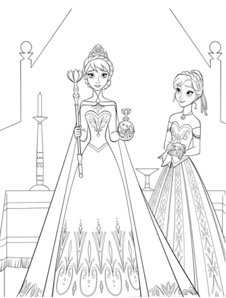 736x970 anna elsa coloring pages az