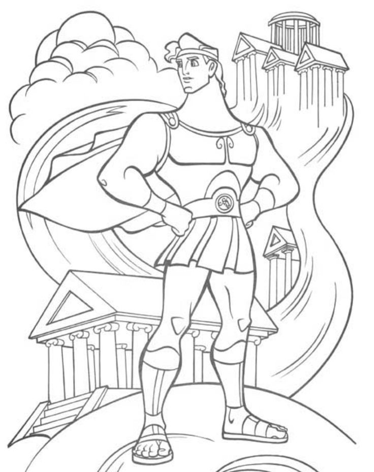 736x929 126 Best Disney Hercules Images On Pinterest Colouring Pages