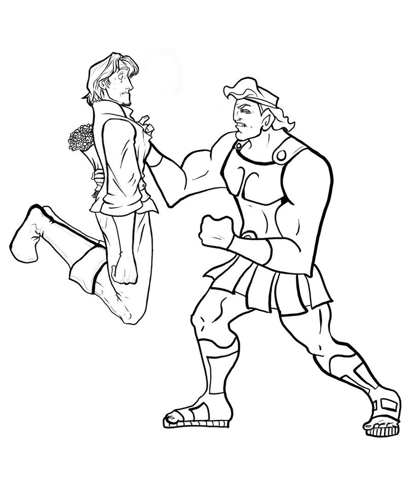 613x800 Disney Hercules Coloring Pages Just Colorings 817x977 Flynn And By AlanAnguiano On DeviantArt