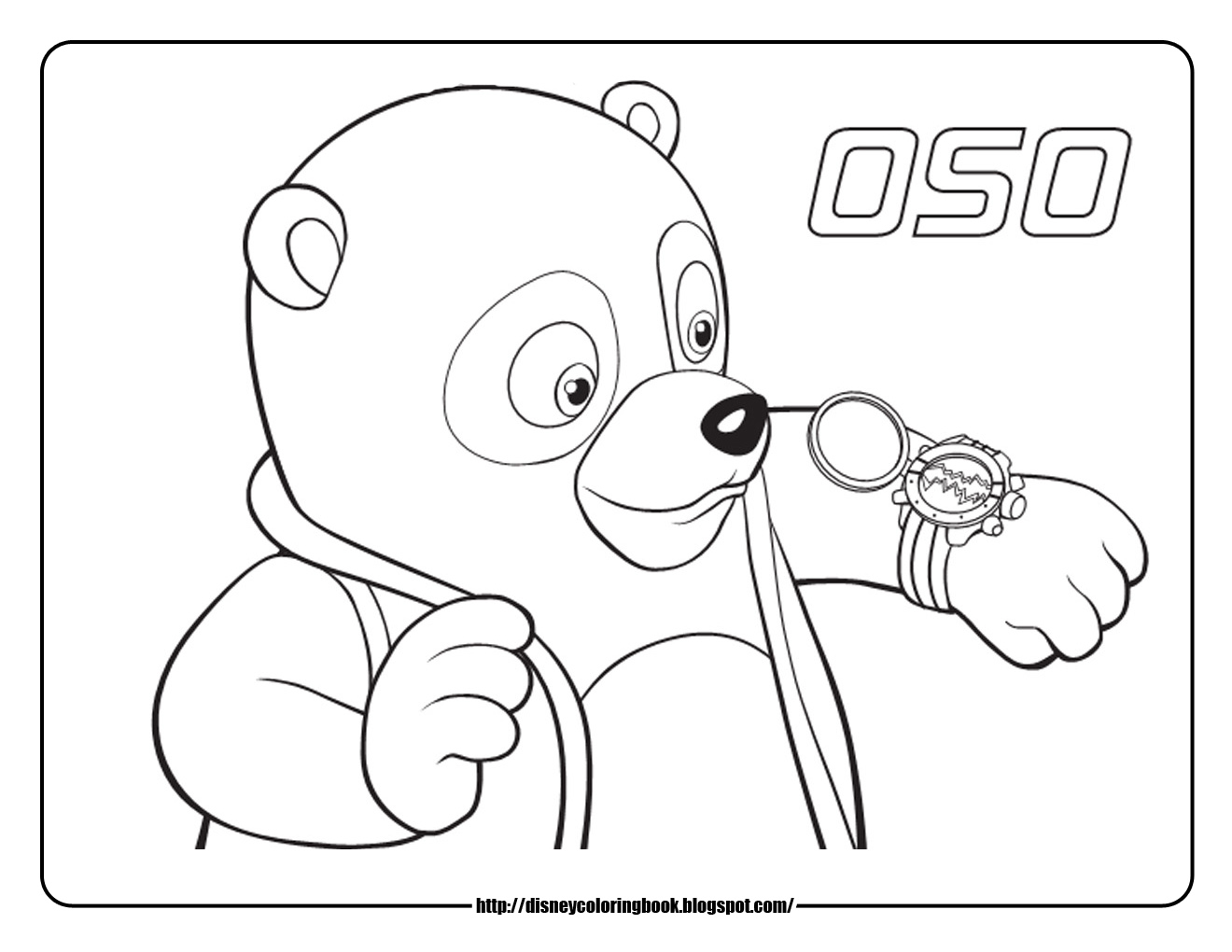1320x1020 Disney Junior Coloring Pages Special Agent Oso 1 Free Disney