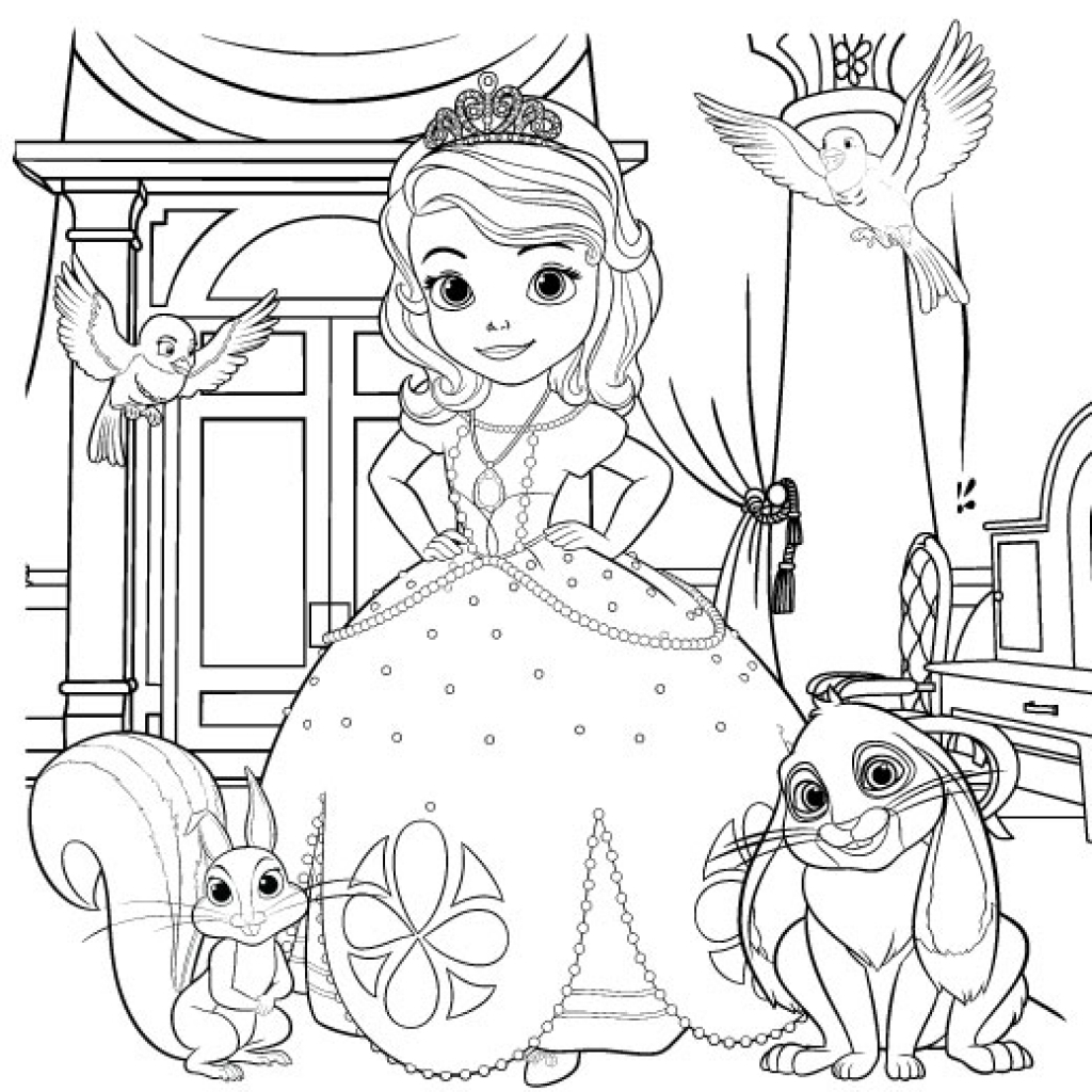 1024x1024 Disney Junior Coloring Pages 8